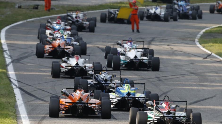 Lance Stroll crash scene, Monza, European F3, 2015
