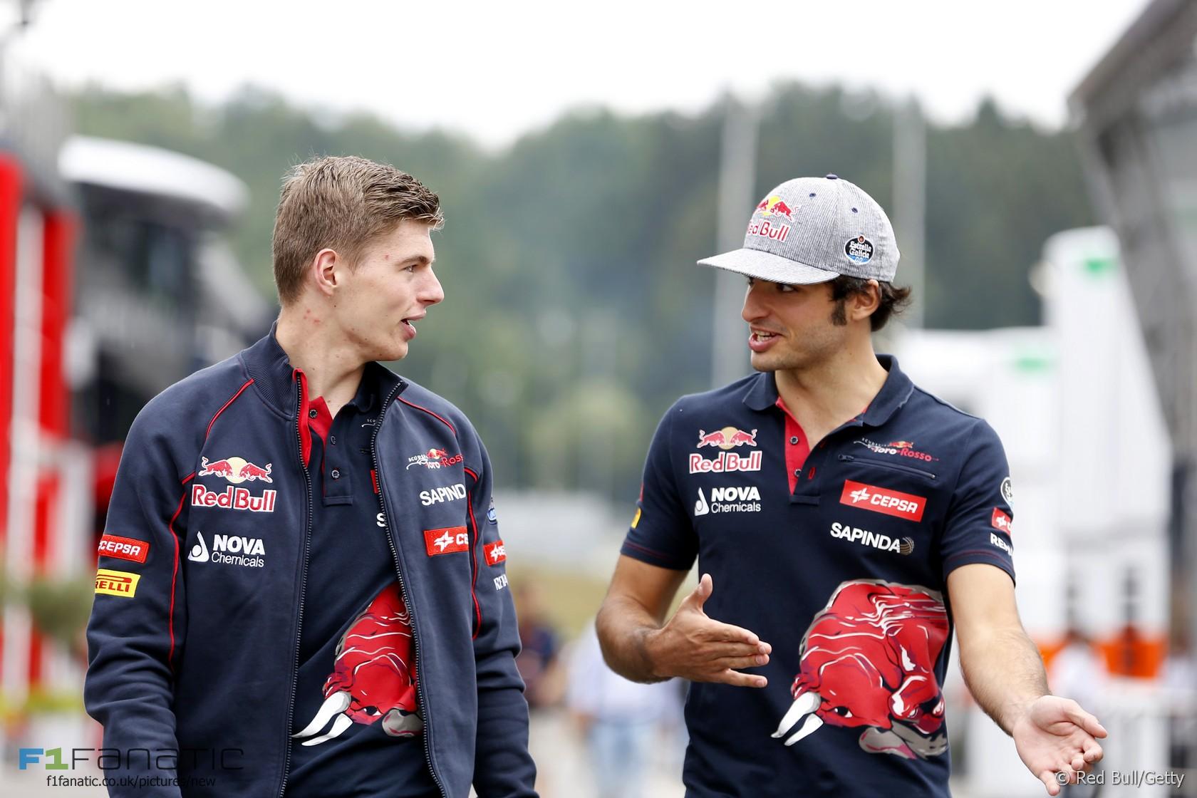 Max Verstappen, Carlos Sainz Jnr, Toro Rosso, Red Bull Ring, 2015