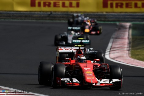 Kimi Raikkonen, Ferrari, Hungaroring, 2015