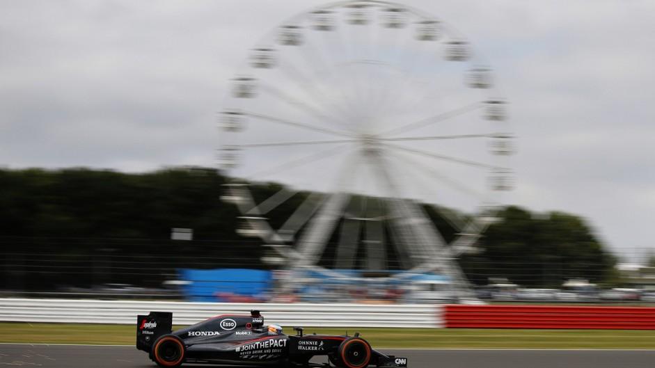 Fernando Alonso, McLaren, Silverstone, 2015