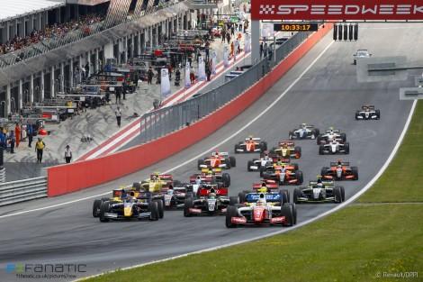 Start, race one, Formula Renault 3.5, Red Bull Ring, 2015