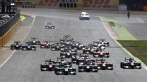 GP2 feature race start, Silverstone, 2015