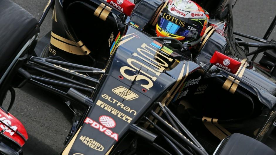 Romain Grosjean, Lotus, Silverstone, 2015