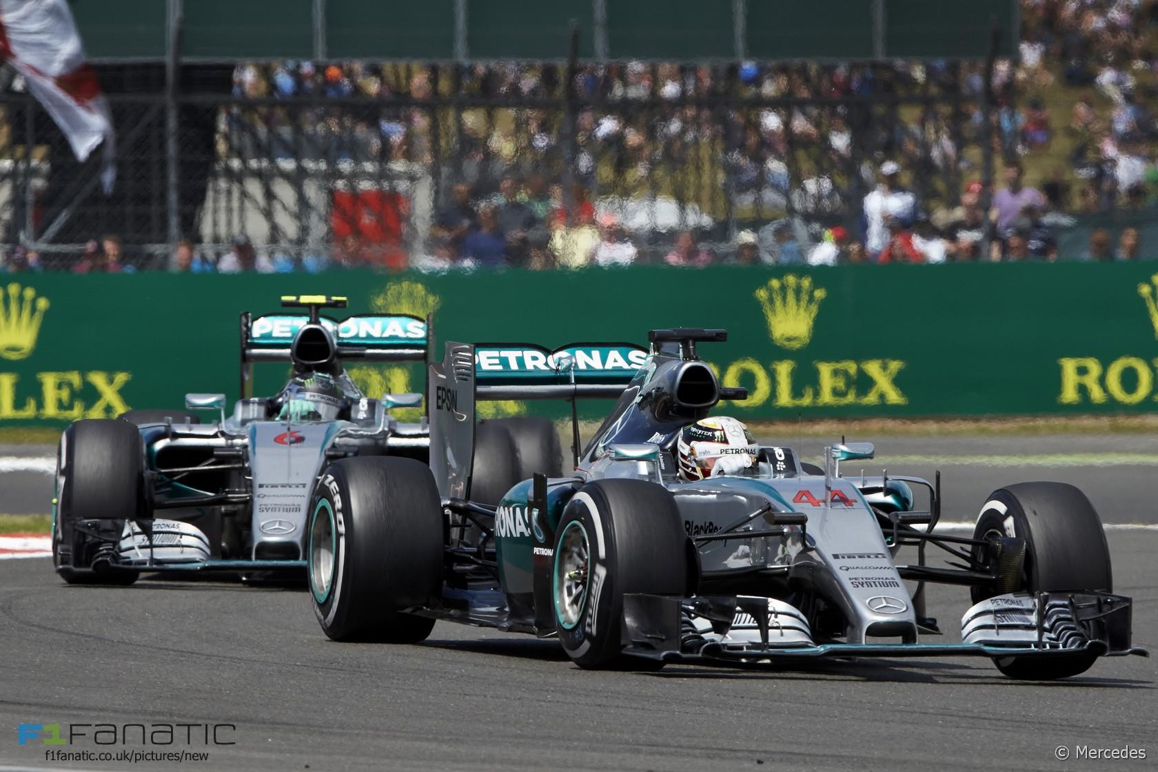 Lewis Hamilton, Nico Rosberg, Mercedes, Silverstone, 2015