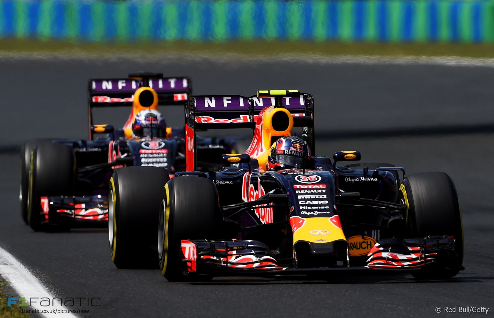 Daniil Kvyat, Daniel Ricciardo, Hungaroring, 2015