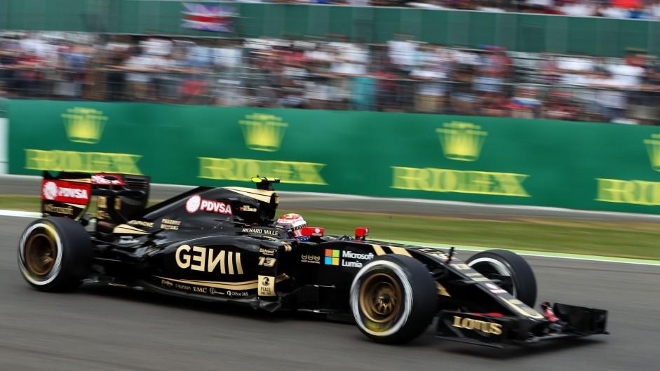 Pastor Maldonado, Lotus, Silverstone, 2015