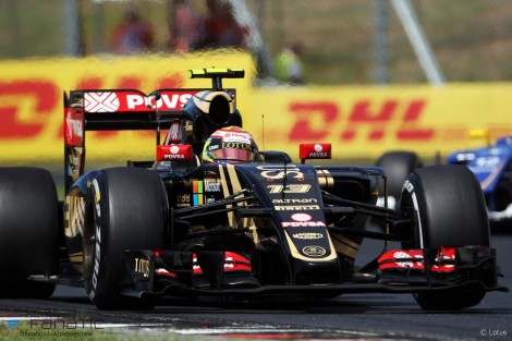 Pastor Maldonado, Lotus, Hungaroring, 2015
