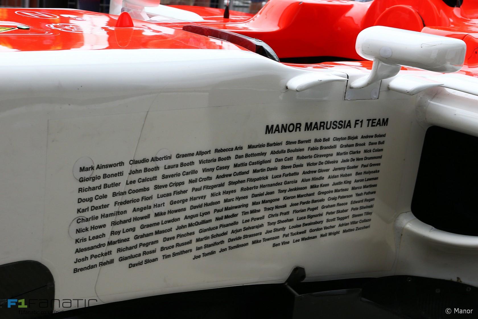 Manor, Silverstone, 2015