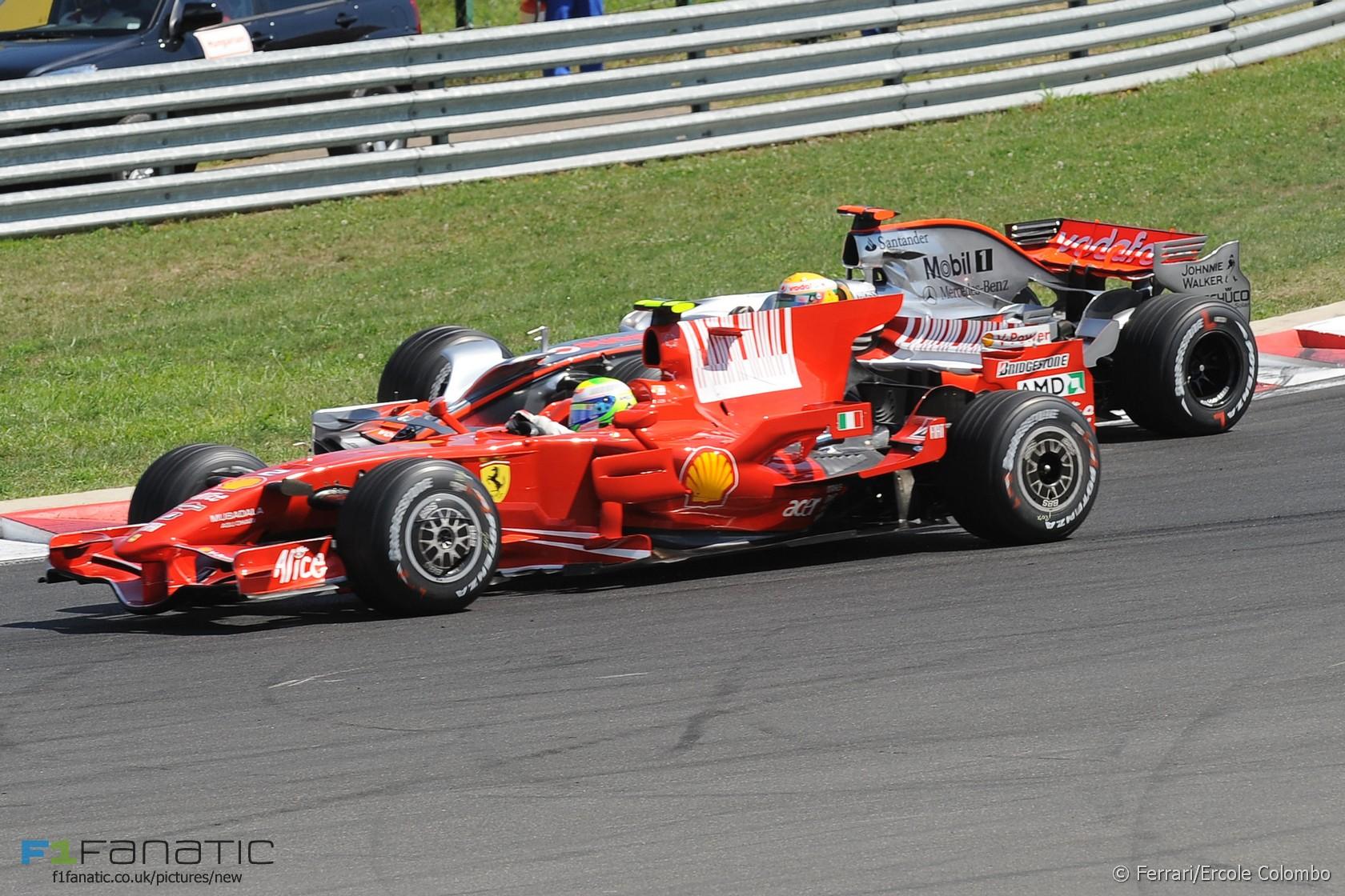 Felipe Massa, Lewis Hamilton, Hungaroring, 2008
