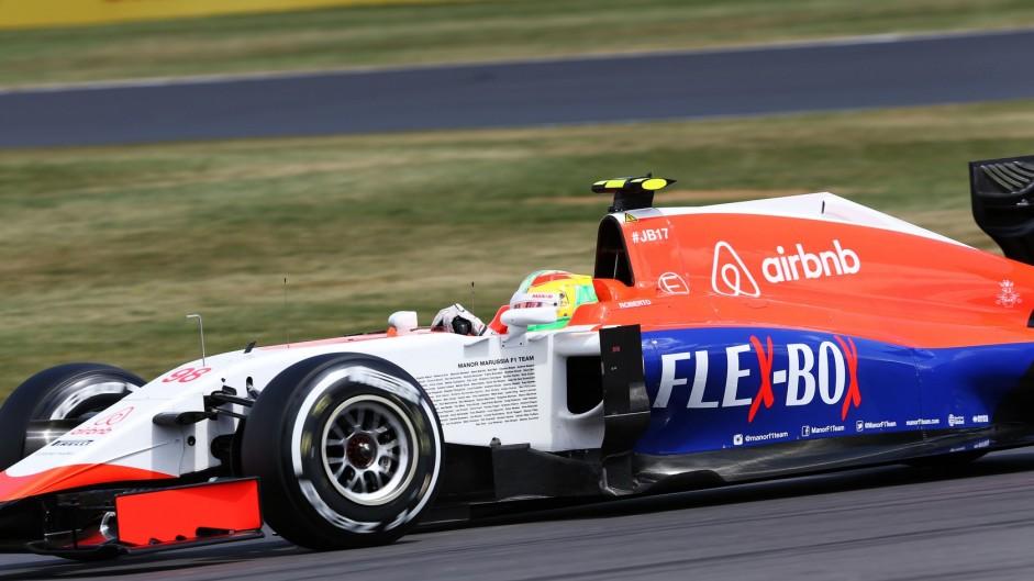 Roberto Merhi, Manor, Silverstone, 2015