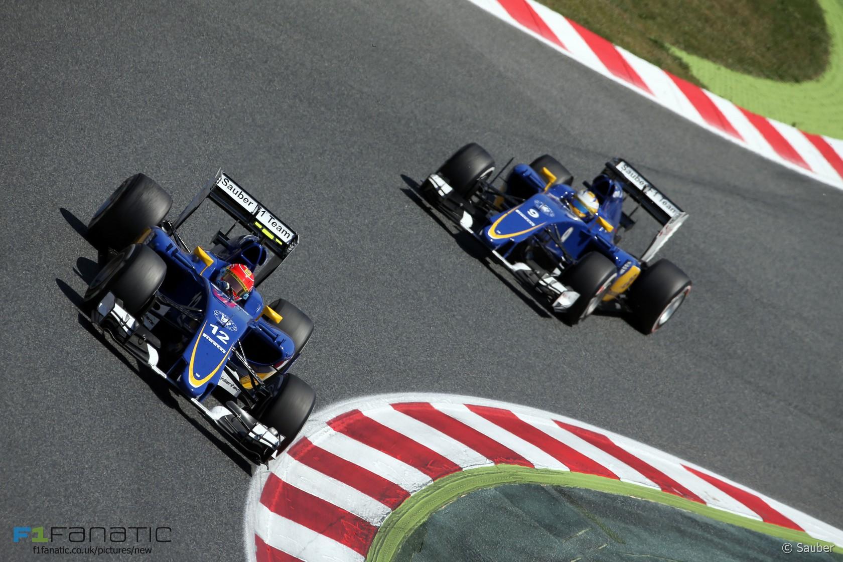 Felipe Nasr, Marcus Ericsson, Sauber, 2015