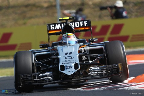 Sergio Perez, Force India, Hungaroring, 2015