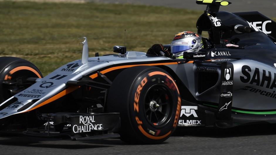 Sergio Perez, Force India, Silverstone, 2015