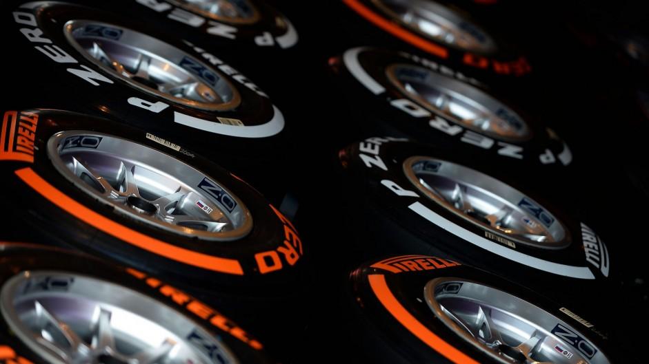 Pirelli tyres, Silverstone, 2015