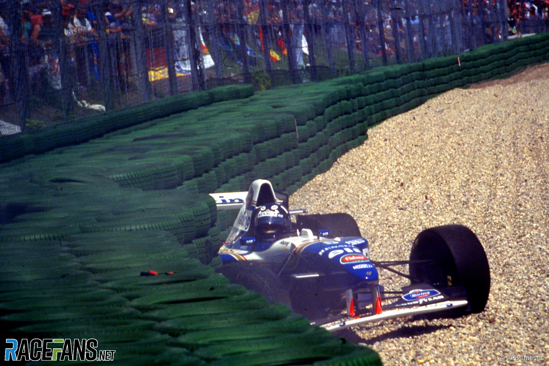 Damon Hill, Williams, Hockenheimring, 1995