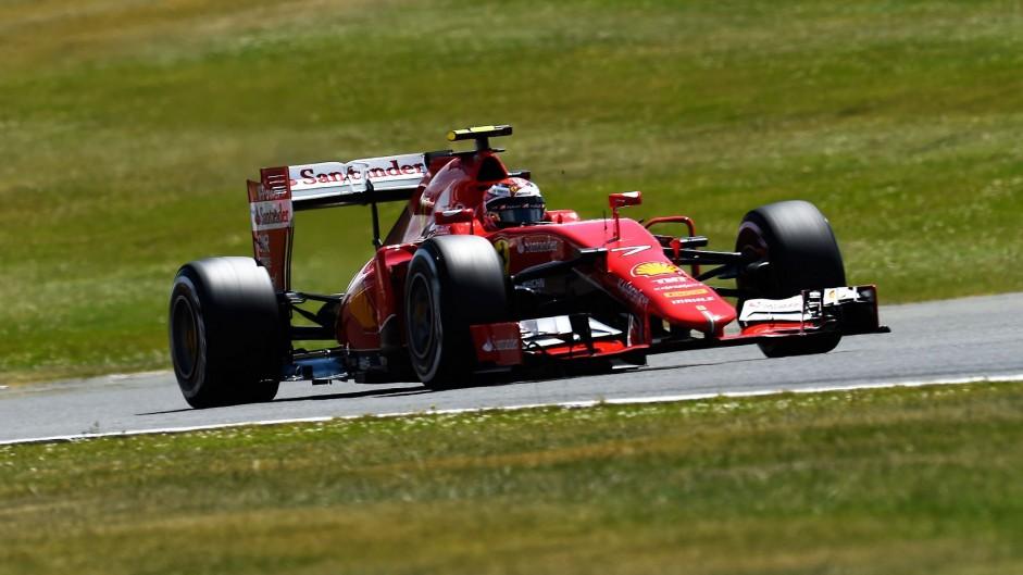 Sebastian Vettel, Ferrari, Silverstone, 2015