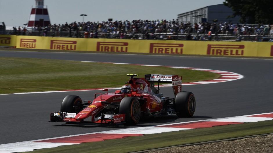 Kimi Raikkonen, Ferrari, Silverstone, 2015