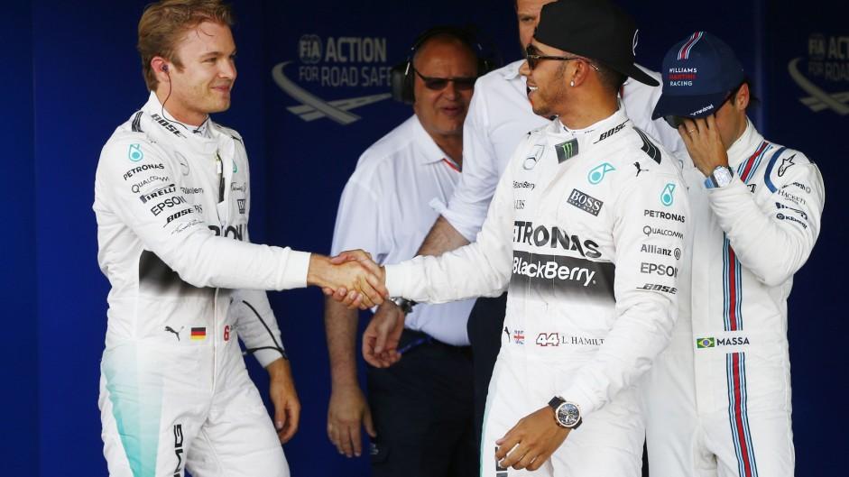 Nico Rosberg, Lewis Hamilton, Mercedes, Silverstone, 2015