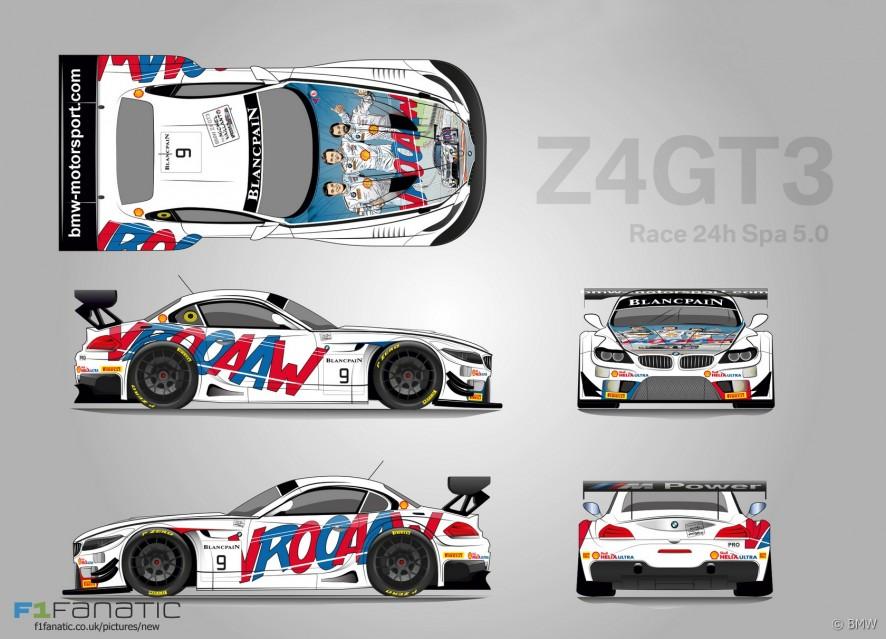 BMW Z4 GT3, Spa 24 Hours, 2015