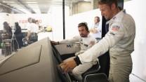 Fernando Alonso, Jenson Button, McLaren, Spa-Francorchamps, 2015