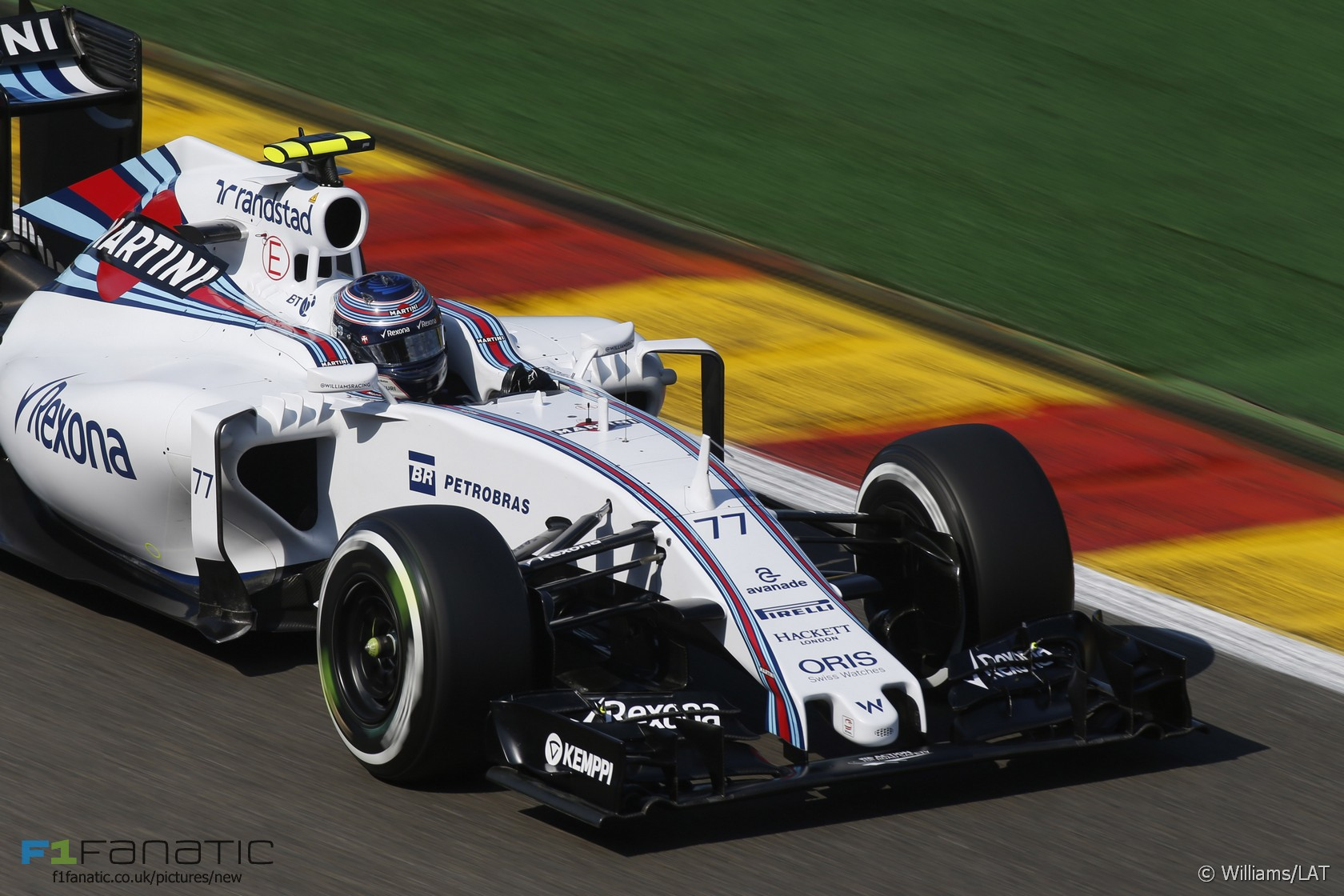 Valtteri Bottas, Williams, Spa-Francorchamps, 2015