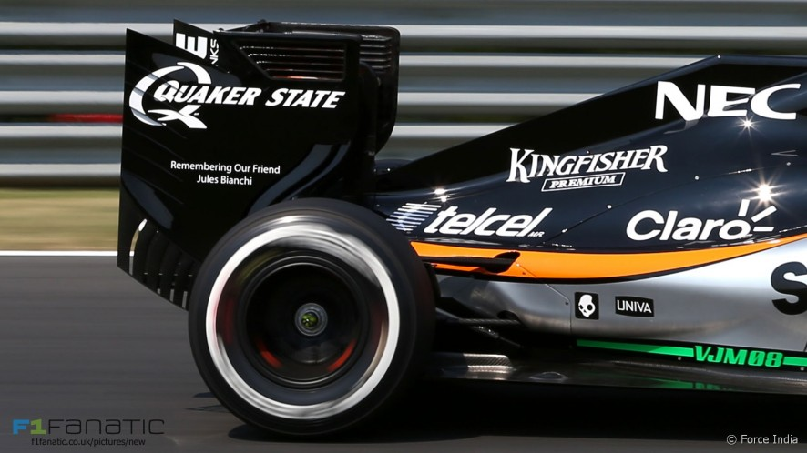 Force India Jules Bianchi tribute