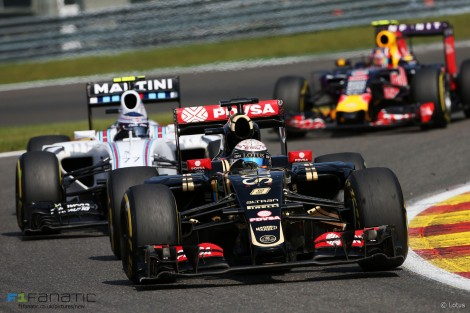 Romain Grosjean, Lotus, Spa-Francorchamps, 2015