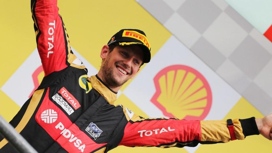 Podium earns Grosjean Driver of the Weekend win