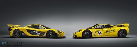 McLaren P1 GTR and McLaren F1 GTR