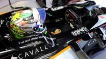 Sergio Perez, Force India, Spa-Francorchamps, 2015
