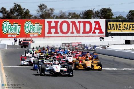 Start, IndyCar, Sonoma, 2015