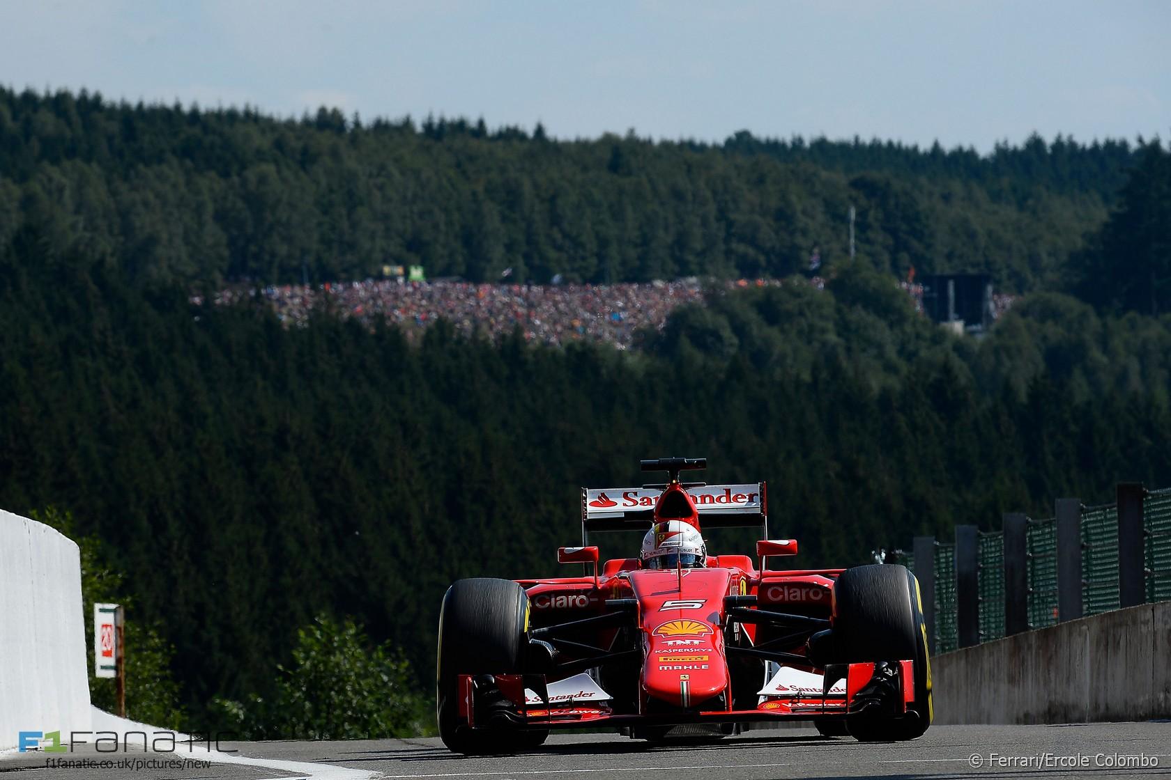 Sebastian Vettel, Ferrari, Spa-Francorchamps, 2015