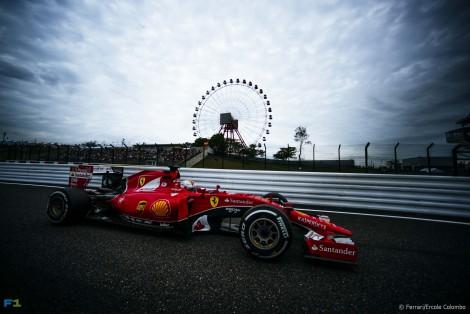 Sebastian Vettel, Ferrari, Suzuka, 2015