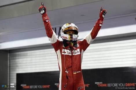 Sebastian Vettel, Ferrari, Singapore, 2015