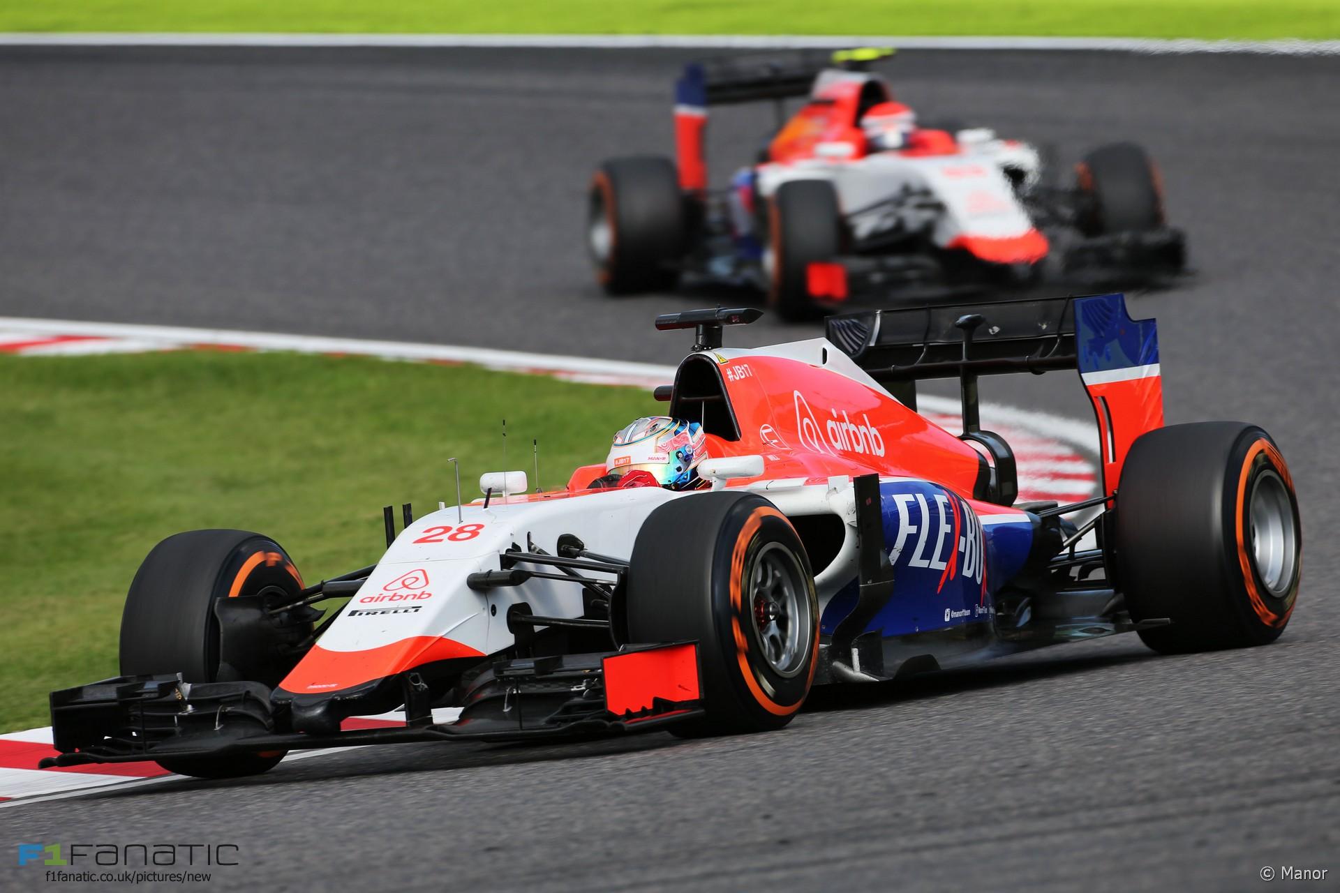 Will Stevens, Alexander Rossi, Manor, Suzuka, 2015