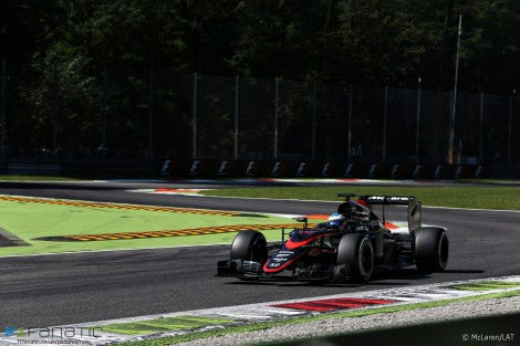 Fernando Alonso, McLaren, Monza, 2015