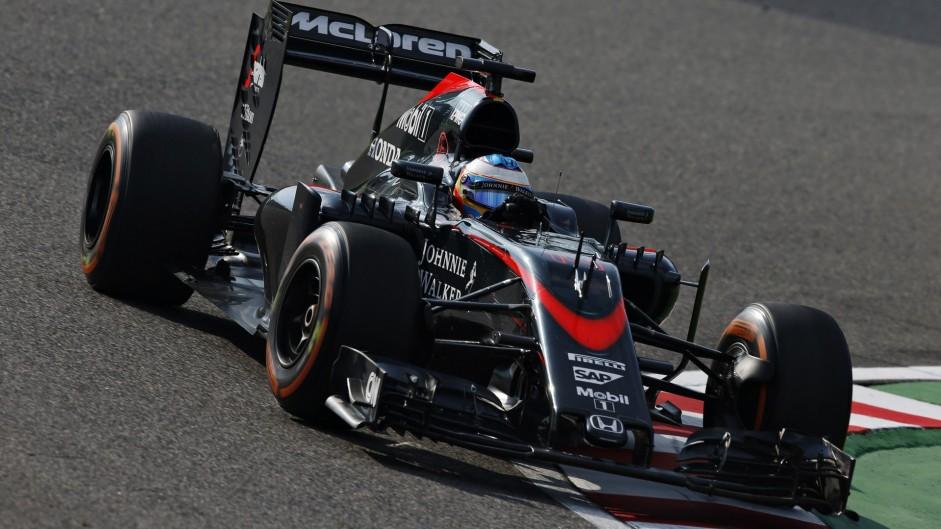 Fernando Alonso, McLaren, Suzuka, 2015