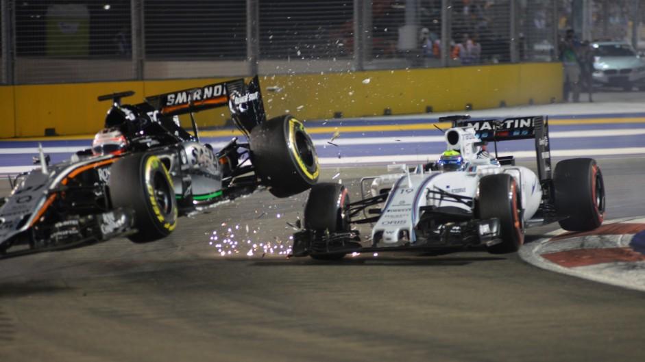 Hulkenberg accepts blame for Massa crash