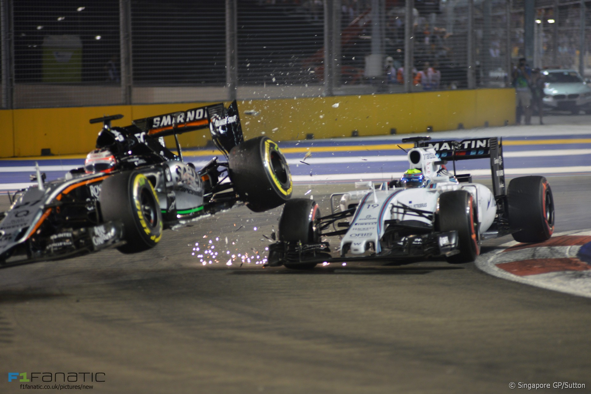 DVD Nico Hulkenberg, Felipe Massa, Singapore, F1 2015