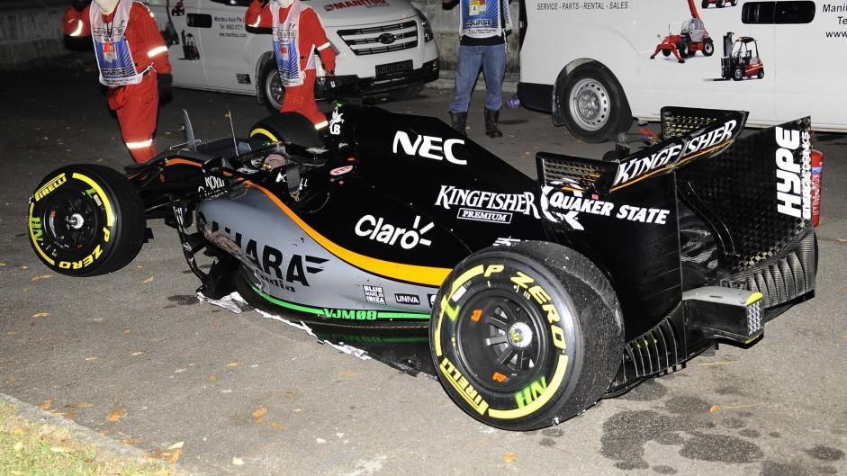 Nico Hulkenberg, Force India, Singapore, 2015