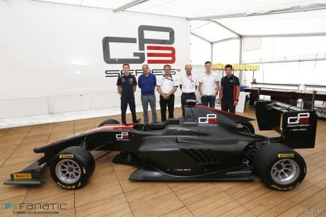 GP3-16 car launch, Monza, 2015