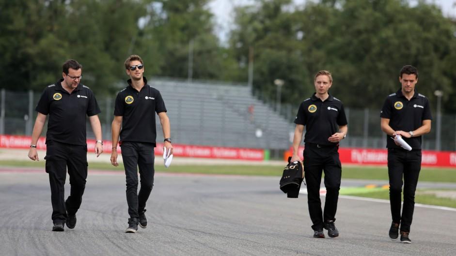Romain Grosjean, Lotus, Monza, 2015