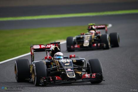 Romain Grosjean, Lotus, Suzuka, 2015