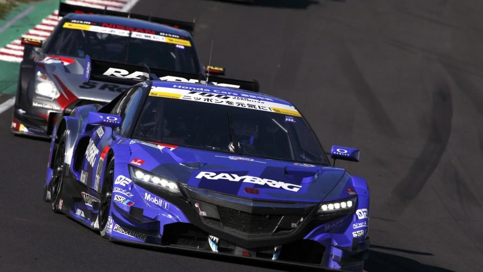 Pit lane pile-up at Super GT Sugo race