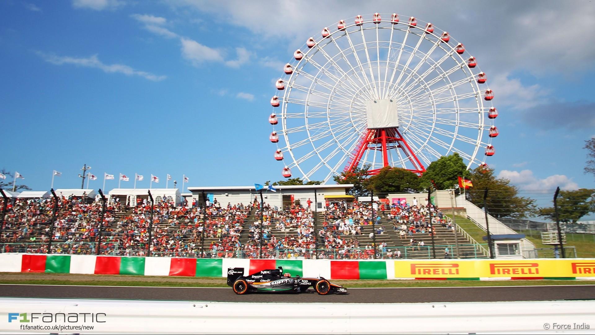 Nico Hulkenberg, Force India, Suzuka, 2015