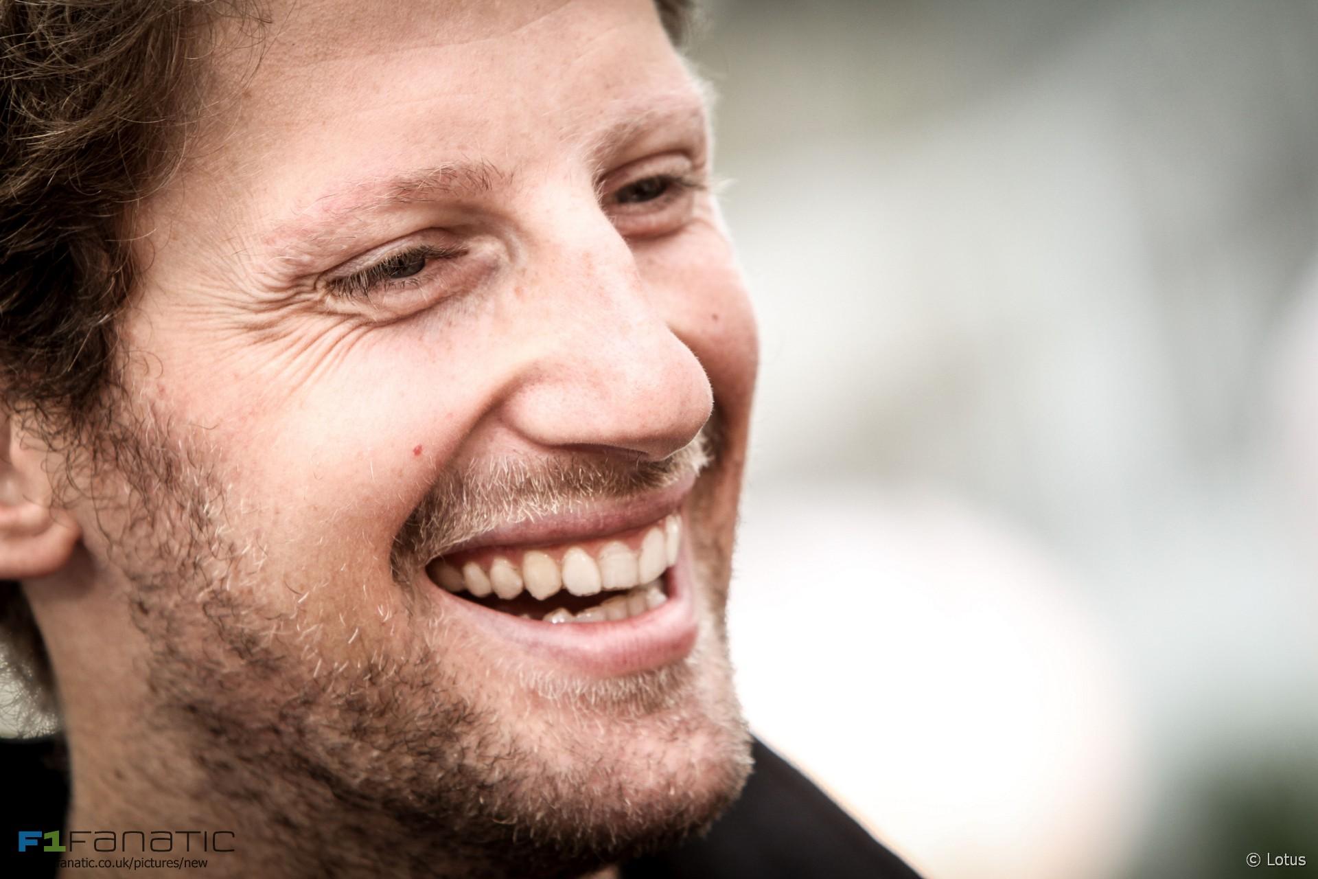 Romain Grosjean, Lotus, Singapore, 2015