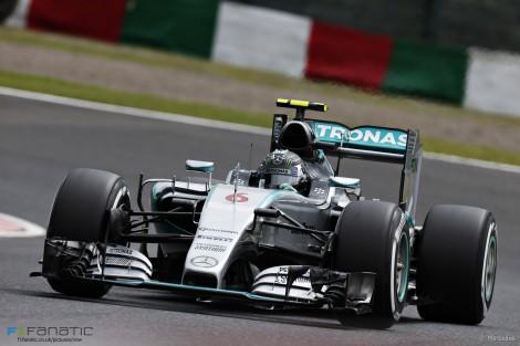 Nico Rosberg, Mercedes, Suzuka, 2015