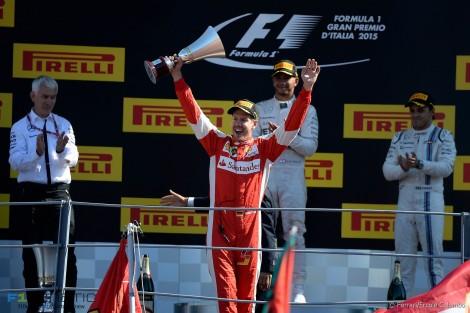 Sebastian Vettel, Ferrari, Monza, 2015