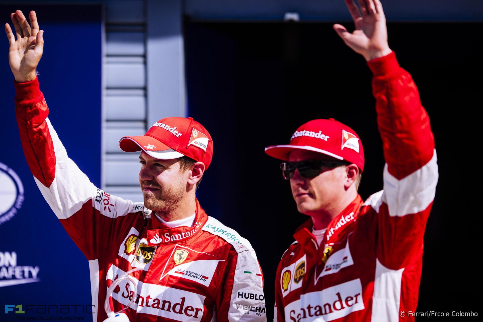 Sebastian Vettel, Kimi Raikkonen, Ferrari, Monza, 2015