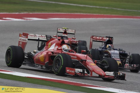 Sebastian Vettel, Ferrari, Circuit of the Americas, 2015